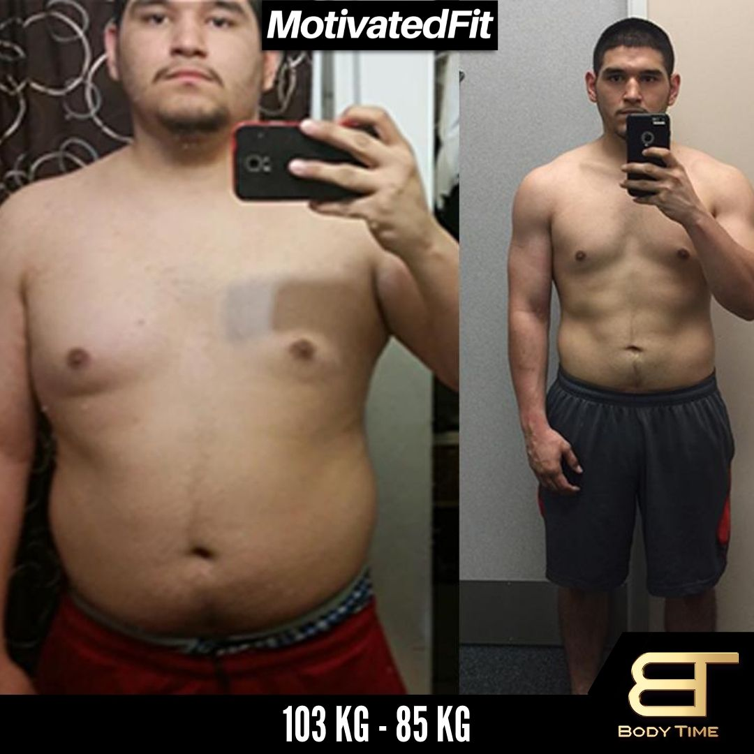 Alex Weight Loss Results Body Time EMS Fitness